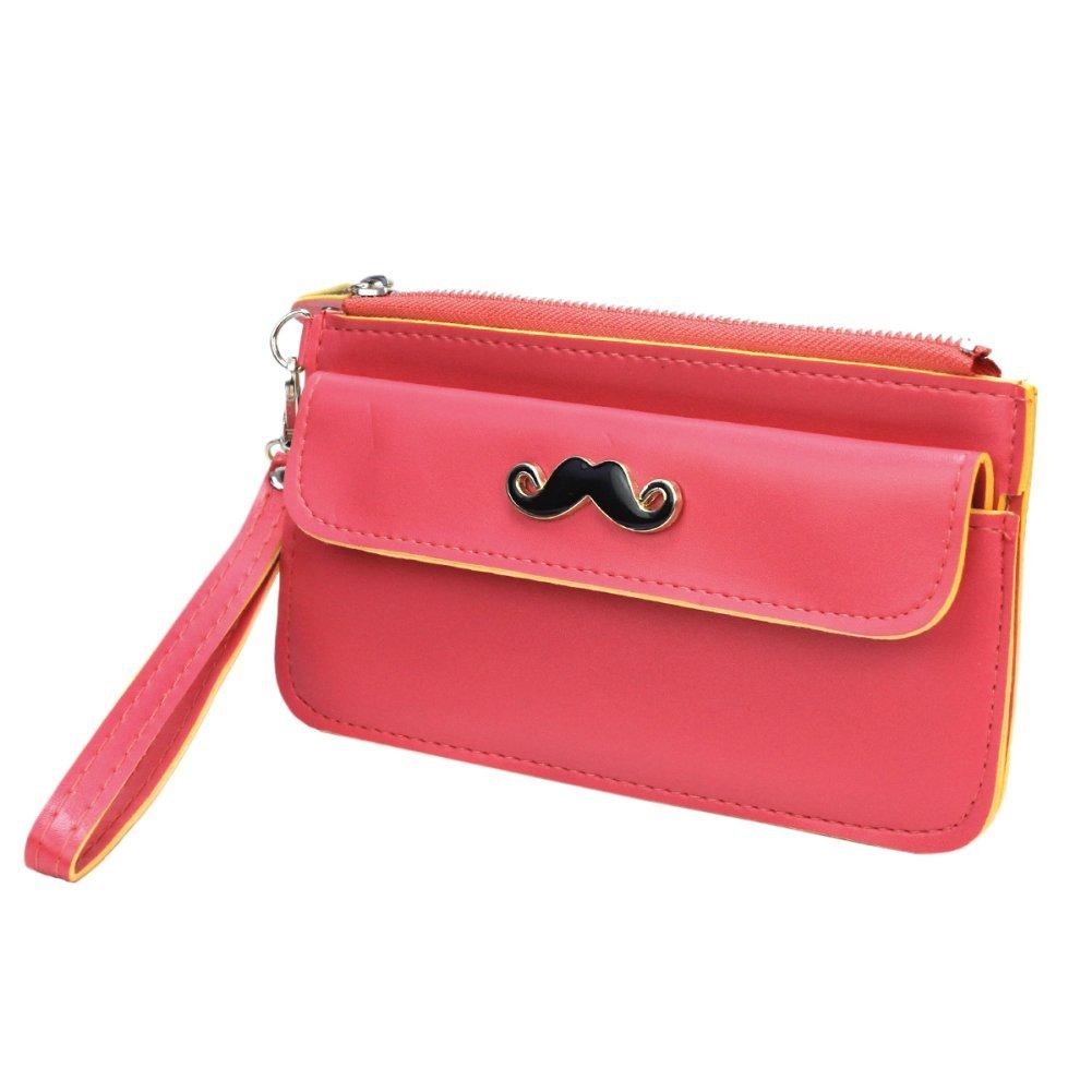 bolso para celular rosa bigote