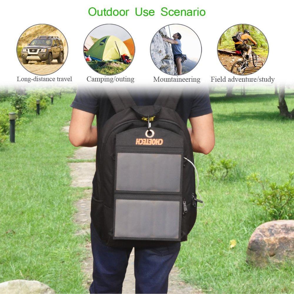 cargador solar de bateria en mochila