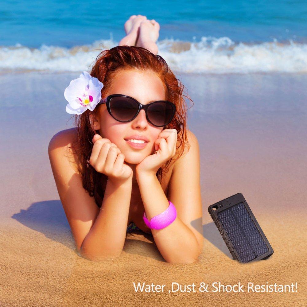 cargador solar de celular resistente al agua