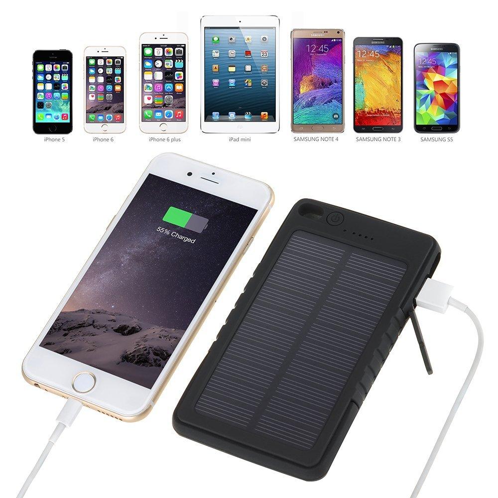 Cargador De Tel 233 Fono Celular Solar Samsung Iphone Ipad