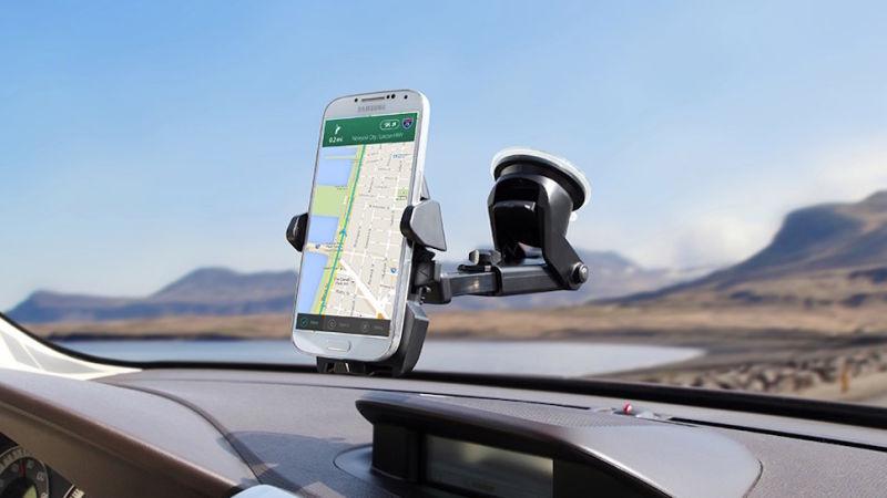 soporte de celular para el parabrisas del coche