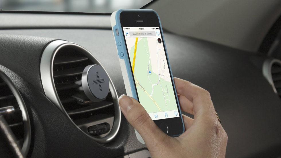 soporte para celular en rejillas de coche