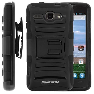 Alcatel-One-Touch-Sonic-LTE-Case-Alcatel-One-Touch-Sonic-LTE-Holster-Two-Layer-Hybrid-Armor-Hard-Cover-with-Built-in-Kickstand-for-Alcatel-OneTouch-Sonic-LTE-A851L-from-MINITURTLE-Includes-Screen-Prot-0
