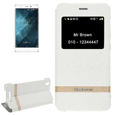Horizontal-Flip-White-Leather-Case-with-Call-Display-ID-Holder-for-Blackview-A8-MPH1001-0