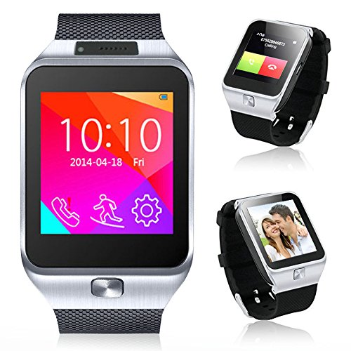 Indigi-2-in-1-Bluetooth-GSM-Wireless-Smart-Watch-Phone-Cell-Phone-Camera-MP3-For-Android-Galaxy-S6-S6-Edge-Note-4-Note-3-Silver-0