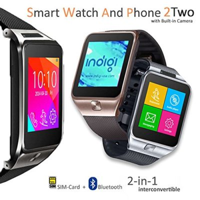Indigi-2-in-1-GSM-Bluetooth-Smart-Watch-Phone-w-Built-in-Camera-Pedometer-Sleep-Monitor-Radio-GSM-Unlocked-Silver-0-0