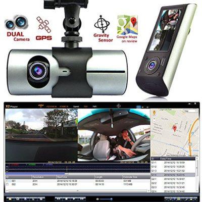 Indigi-HD-Dash-Cam-Dual-Camera-FrontInCab-Driving-Recorder-Car-DVR-GPS-Logger-G-Sensor-0