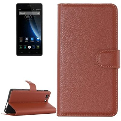 Litchi-Texture-Horizontal-Flip-Leather-Case-with-Holder-Card-Slots-wallet-for-Doogee-X5-S-MPH-1005-Brown-0