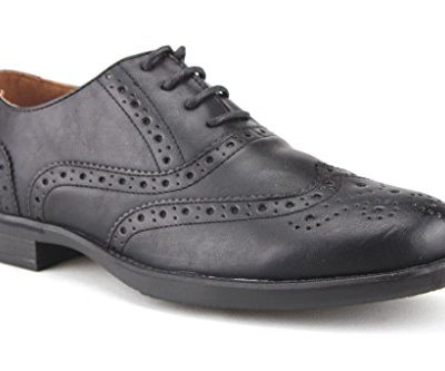 Mens-Ouku-Casual-Wing-Tip-Balmoral-Full-Brogue-Lace-Oxfords-Dress-Shoes-0