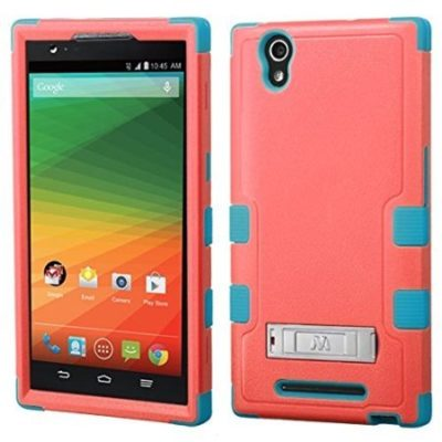 MyBat-ZTE-Z970-ZMAX-Natural-TUFF-Hybrid-Phone-Protector-Cover-with-Stand-Retail-Packaging-Baby-RedTropical-Teal-0