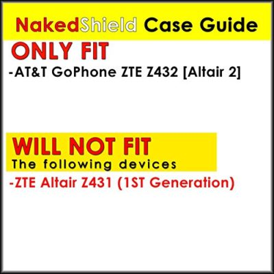 NakedShield-BlackBlack-Armor-Tough-Shock-Proof-Kickstand-Case-P-for-ATT-GoPhone-ZTE-Z432-Altair-2-0