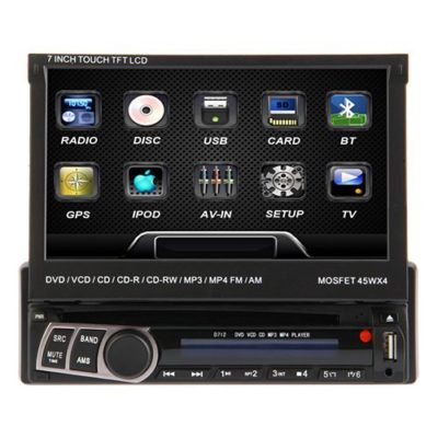 OUKU-7-Inch-Single-1-Din-In-Dash-Detachable-Motorized-Touchscreen-TFTLCD-Monitor-with-GPSIPODDVDCDMP3MP4USBSDAM-FM-Bluetooth-ReceiverFree-4GB-GPS-Navigation-Map-CardFree-US-Map-0