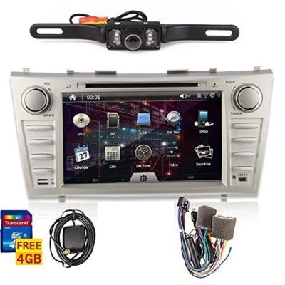 OUKURear-Camera-IncludedFor-TOYOTA-Camrysupport-year-2007-2008-2009-2010-2011-8-inch-Indash-CAR-DVD-Player-GPS-Navigation-Navi-iPod-Bluetooth-HD-Touchscreen-Radio-RDS-FMFree-GPS-Map-CardFree-US-MapFre-0