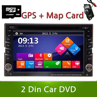 Ouku-62-Double-2-DIN-In-Dash-Car-DVD-Player-TFT-LCD-Monitor-with-DVDCDUSBSD-RadioHands-Free-BluetoothStereoAudio-and-GPS-Navigation-Free-GPS-Map-Card-Backup-Camera-0