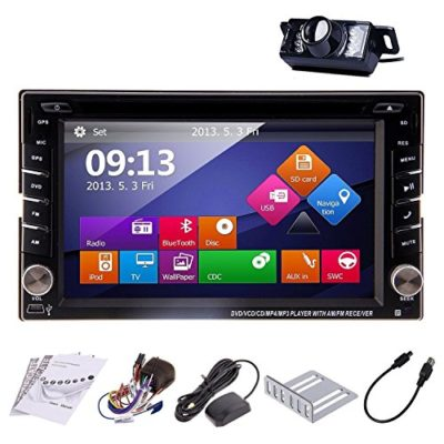 Ouku-In-Dash-Double-DIN-Car-Dvd-Player-with-Touch-Screen-Lcd-Monitor-62-InchFree-Map-Rear-Camera-0