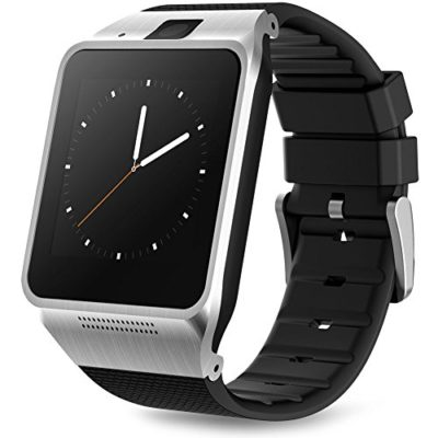 Padgene-Stylish-Bluetooth-Leather-Diamond-Smart-Watch-with-Heart-Rate-for-Samsung-LG-HTC-Snoy-and-Other-Android-Smartphones-0-2