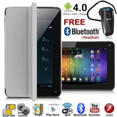 UNLOCKED-7-Android-40-GSM-Dual-Sim-Tablet-Phone-FREE-Smart-CoverBluetooth-0