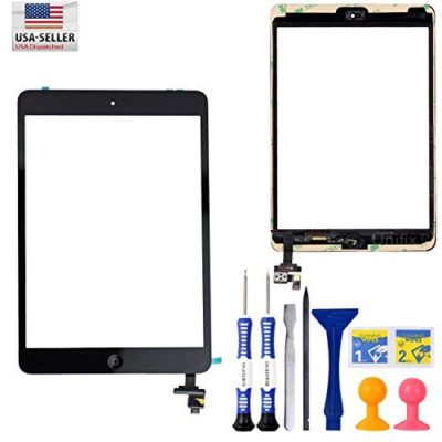 Unifix-Touch-Glass-Digitizer-Replacement-Screen-IC-Connector-Chip-Home-Button-Flex-Assembly-for-Black-Ipad-Mini-1-2-Adhesive-Premium-Tools-0