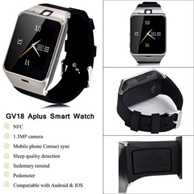 Xdody-Aplus-GV18-15-bluetooth-30-waterproof-32GB-NFC-Smart-Watch-for-Iphone-Samsung-Android-phone-0
