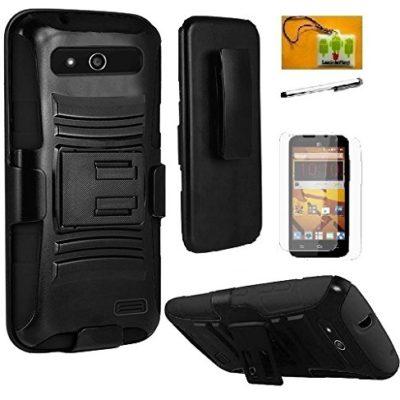Zte-Maven-ATT-LF-4-in-1-Bundle-Premium-PU-Leather-Flip-Wallet-Credit-Card-Cover-Case-Stylus-Pen-Screen-Protector-Wiper-Accessories-0