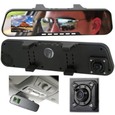 inDigi-2-in-1-HD-27-LCD-Built-in-Camera-Rearview-Mirror-Car-DVR-Vehicle-Dash-Camera-US-Seller-3-5-Days-Delivery-Guaranteed-0