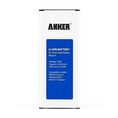 NFCGoogle-Wallet-Capable-Anker-3220mAh-Li-ion-Battery-for-Samsung-Galaxy-Note-4-N910-N910U-4G-LTE-N910VVerizon-N910TT-Mobile-N910AATT-N910PSprint-18-Month-Warranty-0