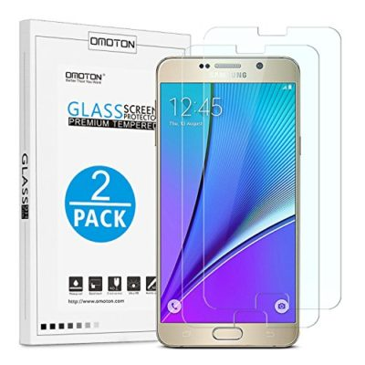 OMOTON-3322750-9H-Ultra-Clear-Anti-Scratch-Tempered-Glass-Screen-Protector-25D-Round-Edge-for-Samsung-Galaxy-Note-5-Pack-of-2-0