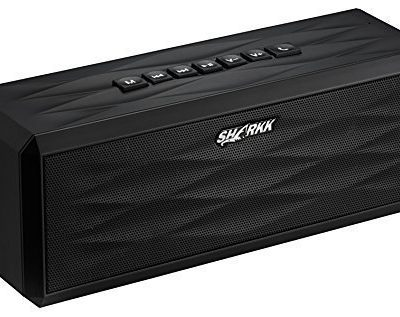 SHARKK-Bluetooth-40-BoomBox-Speaker-18-Hour-Playtime-10-Watt-Portable-Speaker-System-4400-mAh-Li-ion-Battery-Ultra-Bass-Subwoofer-Sound-Effect-Built-In-Mic-For-Calls-NFC-Function-For-All-iPhone-iPhone-0