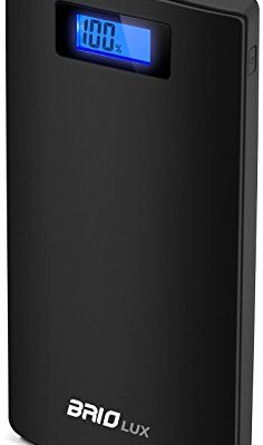 Sentey-Power-Bank-20800mah-External-Battery-Pack-Portable-Charger-Dual-Port-21-and-10-Amp-Dc-5v-LCD-Power-Indicator-Pack-Powerbank-Mobile-Phone-and-Tablets-Rubber-Surface-Finish-Brio-LUX-Ls-2186-0
