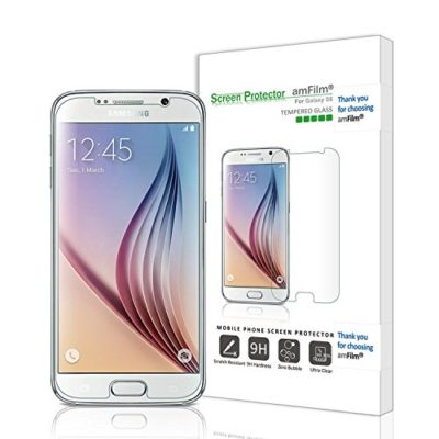 amFilm-Galaxy-S6-Screen-Protector-Tempered-Glass-Front-and-PET-Back-Screen-Protector-for-Samsung-Galaxy-S6-NOT-S6-Edge-1-Pack-in-Retail-Packaging-Lifetime-Warranty-0