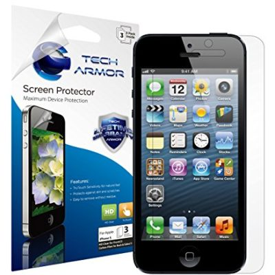 iPhone-5-Screen-Protector-Tech-Armor-High-Definition-HD-Clear-Apple-iPhone-5C-5S-5-SE-Screen-Protector-3-Pack-0
