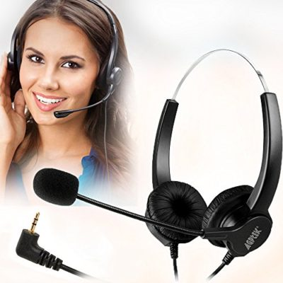 AGPtEK-Hands-free-Call-Center-Noise-Cancelling-Corded-Headset-Headphone-with-Mic-Mircrophone-for-Desk-Phone-0