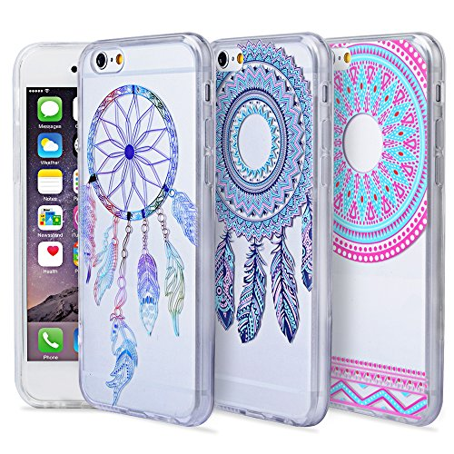 Aigoo-3-Pack-Clear-Case-Soft-Silicone-Colorful-Pattern-Back-Cover-for-47-inches-iPhone-6iPhone-6s-0