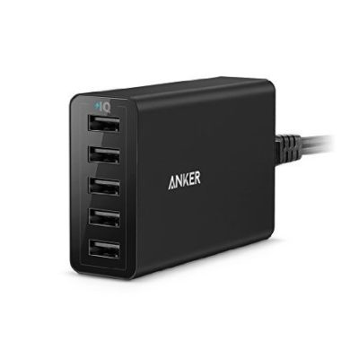 Anker-40W8A-5-Port-USB-Charger-PowerPort-5-Multi-Port-USB-Charger-for-iPhone-66-Plus-iPad-Air-2Mini-3-Samsung-Galaxy-S7S6S6-Edge-and-More-0