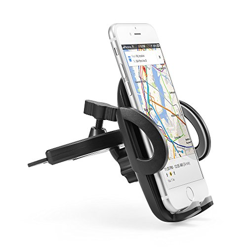 Anker-CD-Slot-Mount-Car-Mount-Phone-Holder-for-iPhone-iPod-Samsung-LG-Nexus-HTC-Motorola-Sony-and-Other-Smartphones-and-MP3-Players-Black-0