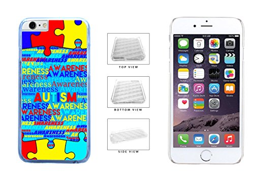 Autism-Awareness-on-Blue-Background-Clear-Sides-Plastic-Phone-Case-Back-Cover-For-Apple-iPhone-6-Plus-iPhone-6s-Plus-55-Inches-Screen-comes-with-Security-Tag-and-MyPhone-DesignsTM-Cleaning-Cloth-0