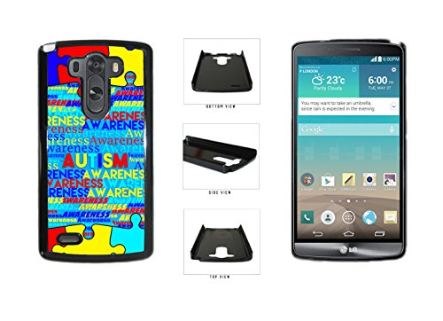 Autism-Awareness-on-Blue-Background-Plastic-Phone-Case-Back-Cover-For-LG-G3-D855-comes-with-Security-Tag-and-MyPhone-DesignsTM-Cleaning-Cloth-0