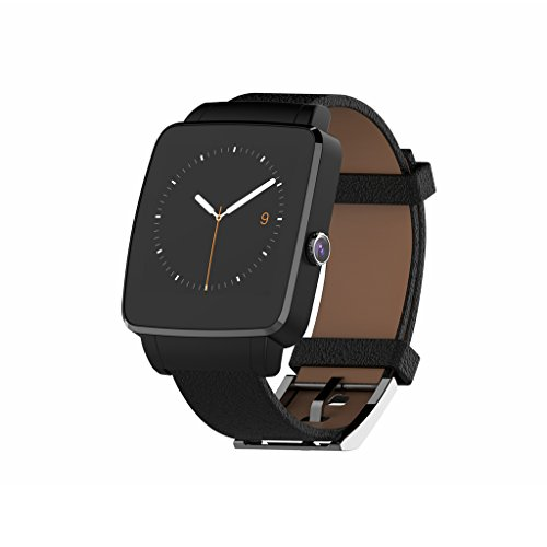 Bluetooth-Smart-Watch-OUMAX-S6-Edge-for-Android-Smart-Phones-Full-Function-Support-for-Android-43-to-Android-60-IPS-DisplayCurved-ScreenReplacement-Premium-Leather-Strap-0