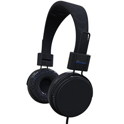 Cell-Phone-Headset-Elecstars-Over-Ear-Noise-Cancelling-Headphones-With-Mic-And-Remote-Comfortable-Lightweight-Folding-Best-Gift-For-Musicians-DJs-Kids-Men-Women-Teens-Children-Black-0