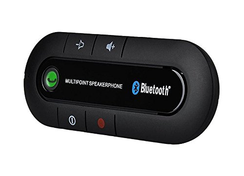 Deli-Handsfree-Bluetooth-Car-Kit-Portable-Multipoint-Bluetooth-Sun-Visor-In-car-Speakerphone-With-Long-Standby-Time-Wireless-Speaker-For-iPhoneSamsungSmart-Cell-Phone-Black-0
