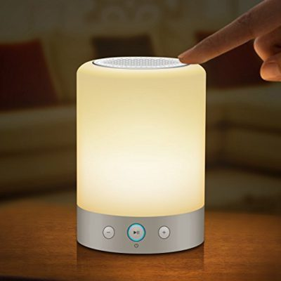 EACHTEK-Smart-Music-Light-Bluetooth-Speaker-Lamp-Touch-Control-Rainbow-Night-Light-Answer-Phone-Calls-Play-Music-from-Cell-Phones-or-Micro-SD-Cards-FM-Radio-Repeat-Play-Power-Off-Timing-0