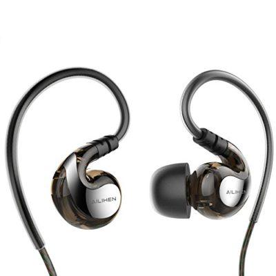 EarphonesAILIHEN-SE-01-Sport-Sweatproof-Earphones-with-Microphone-for-Running-GymIn-Ear-Earbuds-for-iPhone-iPod-iPad-Laptop-Mac-Tablets-Smartphones-0