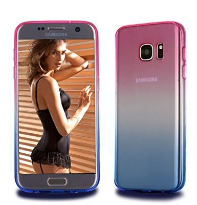 Galaxy-S7-CaseCLONG-Colorful-Slim-Fit-Flexible-Soft-TPU-Acrylic-Protective-Cover-Gradient-Translucent-Impact-Resistance-Clear-Bumper-Cell-Phone-Case-for-Samsung-Galaxy-S7-2016-Release-0