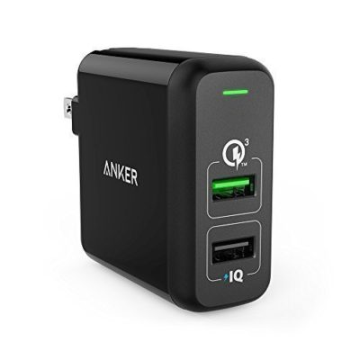Quick-Charge-30-Anker-315W-Dual-USB-Wall-Charger-PowerPort-2-with-Quick-Charge-30-for-Galaxy-S7S6EdgeEdge-Plus-Note-45-LG-G4G5-HTC-One-M8M9A9-Nexus-6-iPhone-iPad-and-More-0