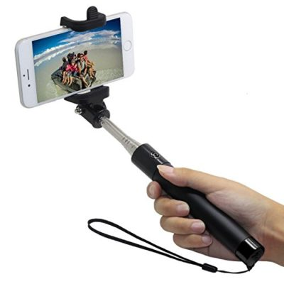 Selfie-Stick-Bluetooth-Smart-Phone-Monopod-Integrated-Foldable-Aid-for-Taking-Photographs-with-Cell-Phone-Extends-to-315-inches-By-Foxx-Electronics-0