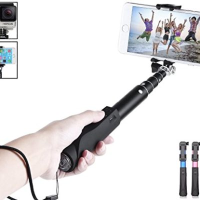Selfie-Stick-CINEYOTM-Compact-Foldable-Bluetooth-Aluminum-Selfie-Stick-Adjustable-Phone-Holder-for-GoPro-iPhone-6-iPhone-6-Plus-5S-5C-Samsung-Galaxy-S6-Edge-S5-and-other-Andriod-and-iphones-0
