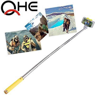 Selfie-Stick-FlexionTM-QuickSnap-Pro-3-In-1-Self-portrait-Monopod-Extendable-Wireless-Bluetooth-Selfie-Stick-with-built-in-Bluetooth-Remote-Shutter-With-Adjustable-Phone-Holder-for-iPhone-6-iPhone-6-P-0