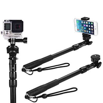 Selfie-Stick-The-Best-Monopod-Selfie-Stick-Waterproof-for-iPhone-6-for-Gopro-Hero-4-Session-Black-Silver-Hero-LCD-3-3-2-1-All-Weather-Edition-No-Bluetooth-0