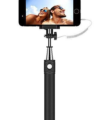 Selfie-stick-Kiwii-Selfie-stick-monopod-3-In-1-Self-portrait-Monopod-Extendable-Battery-Free-Selfie-Stick-with-built-in-Remote-Shutter-w-Adjustable-Phone-Holder-for-iPhone-6-iPhone-6-Plus-iPhone-5-5s--0