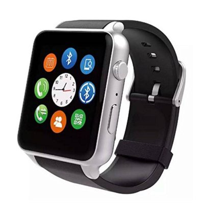 Smart-Watch-Webest-Bluetooth-Wrist-Watch-Phone-with-SIM-Card-Slot-for-IOS-iPhone-Android-Samsung-HTC-Sony-SmartphonesSilver-0